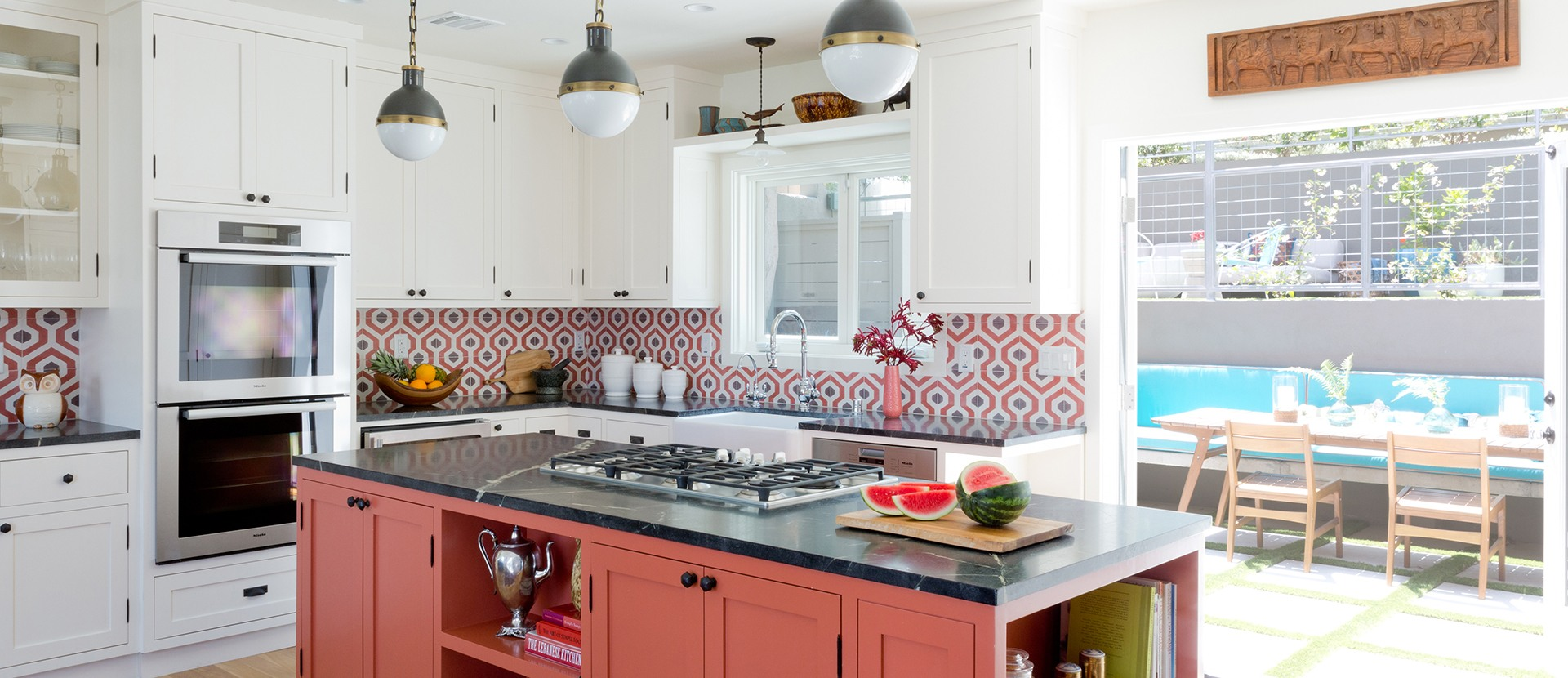 003-design-vidal-silver-lake-addition-los-angeles-kitchen-island-pendant-lighting-cement-tile-backsplash-red-cabinets-double-oven-miele-open-concept